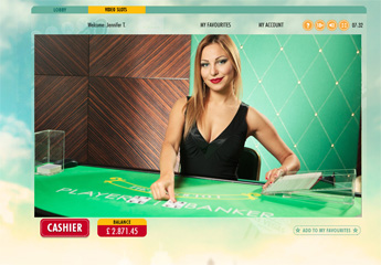 screenshot of live baccarat #1