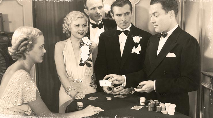 people playing blackjack in the old days