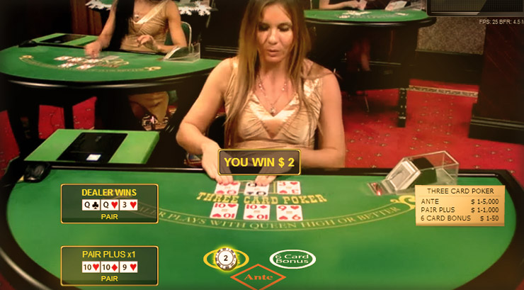 Live Three Card Poker - Play at 777