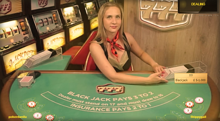 Live blackjack at 777