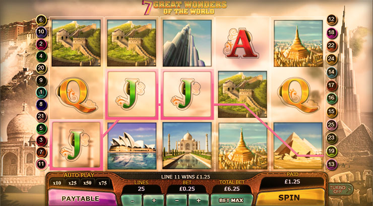 7 Great Wonders of the World Slot Game at 777 Casino