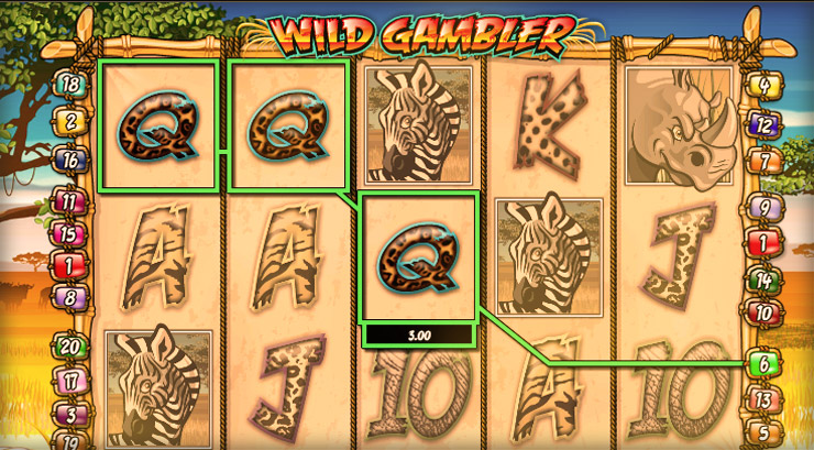 Wild Gambler Slot Game at 777 Casino