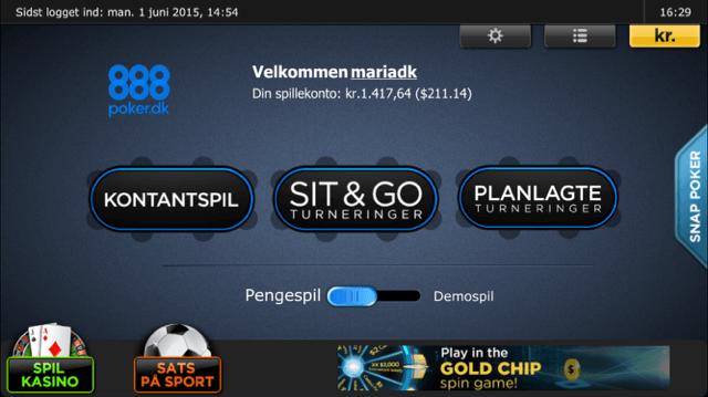 mobil poker spil