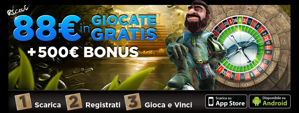 Ricevi 88€ in Giocate Gratis 888.it
