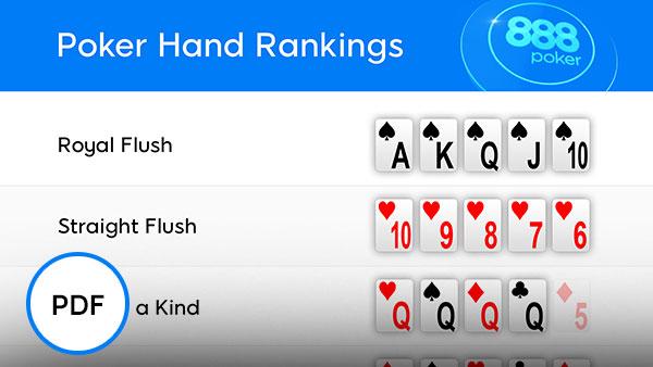 Ubersicht Der Hande Beim Poker In Ihrer Reihenfolge Pokerblatter