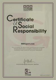 888sport Certificate