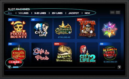 New 888casino game search