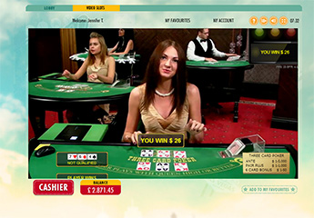 Live 3 Card Poker Screenshot #1