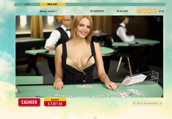 Screenshot #2 of live blackjack