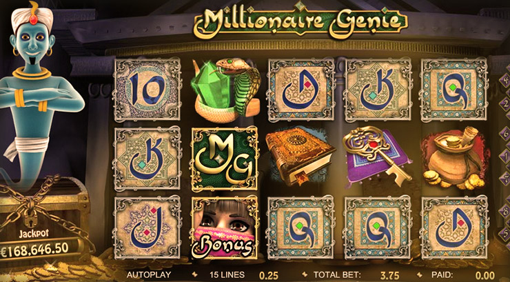 Millionaire Genie Slot Machine Game with Jackpot at 777 Casino