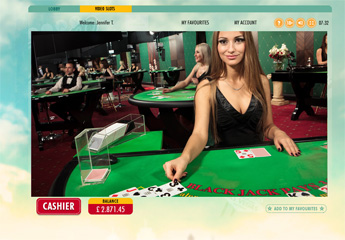 Screenshot #1 of live blackjack