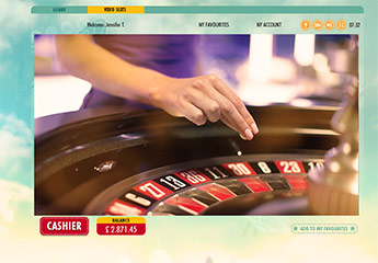 Live Casino Elite Lounge Roulette Table