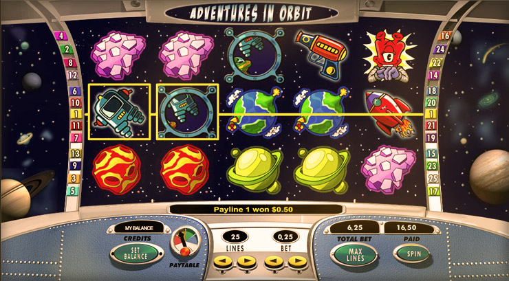 Adventures in Orbit Slot Game at 777 Casino