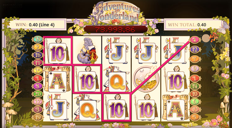 Adventures in Wonderland Slot main image