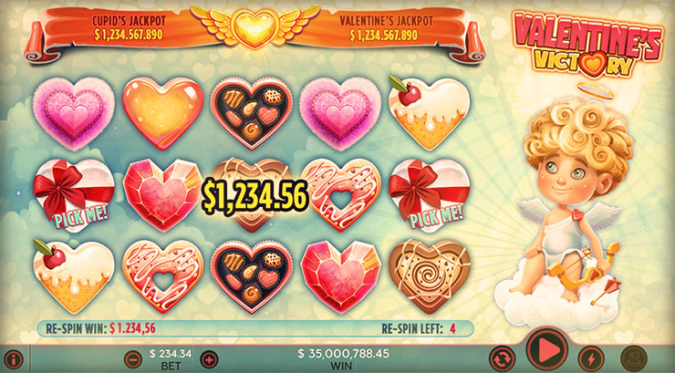 Valentines Victory Slot - Play Now with No Downloads