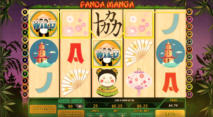 Panda Manga Slot Game at 777 Casino
