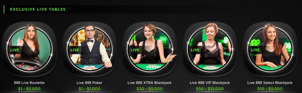 Live Casino Elite Lounge 888 Com
