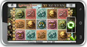 gonzos quest slot on mobile