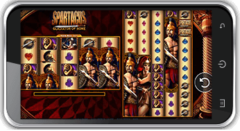 spartacus slots mobile screenshot