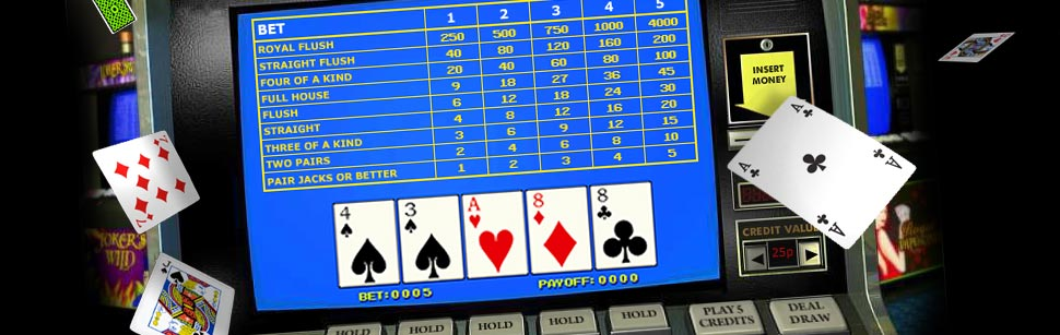 online video poker screen