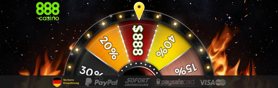 Mit dem Glücksrad von 888casino zum FreePlay