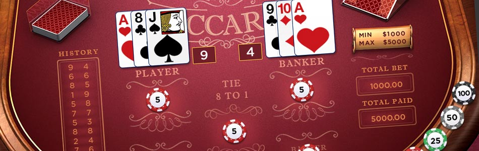 casino game baccarat