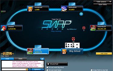 snap poker at 888poker