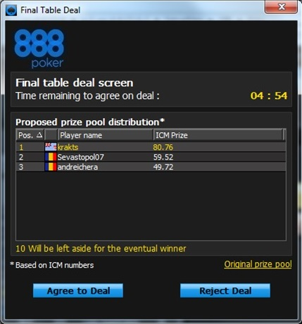 Final Table Deal 3