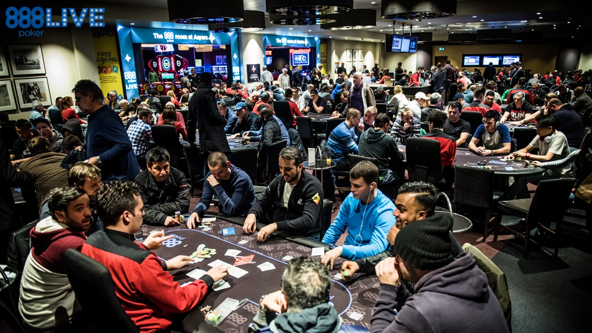 Main Event du 888live local de Londres au Aspers