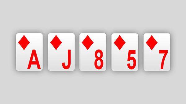 Couleur : classement au poker