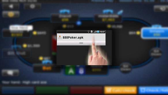 Android に 888poker モバイルア...