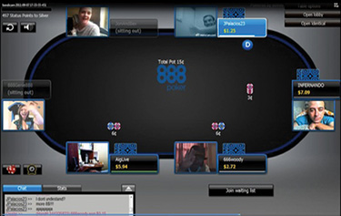 live webcam poker at 888poker