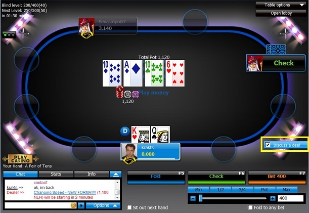 Final Table Deal 1